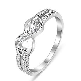 Genuine 925 Rings for Women Sterling Silver Jewelry Designer Brand Rings Wedding Rings Lady Infinity Rings 1541194