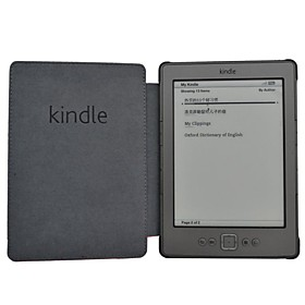 Shy Bear(tm) Business Style Slim PU Leather Cover Case for Amazon Kindle 4 Or Kindle 5 Ebook Ereader