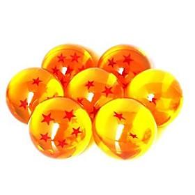Anime Dragonball 7 Sterne Crystal Ball Set von 7 Stück Dragon Ball Z Balls Komplett-Set 3cm 1511759