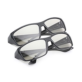 MK General Polarized Light Patterned Retarder Thicken 3D Glasses for TV and Cinema (2Pcs) 1675781