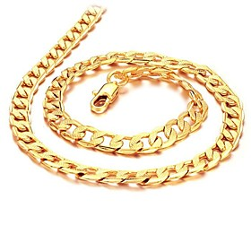 Men's Chain Necklace - 18K Gold Plated, Gold Plated Gold Necklace Jewelry For Wedding, Party, Daily