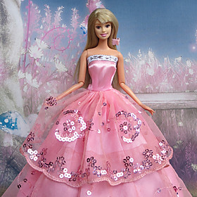 Barbie Doll Pink Braces Party Dress