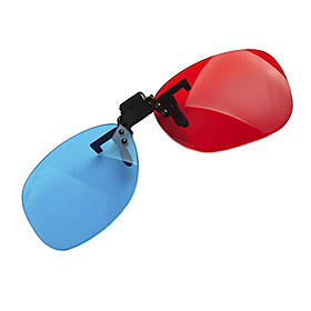 Reedoon Red Blue Side by Side Myopia Clamping Piece Suits of 3D Glasses for Computer 1675824