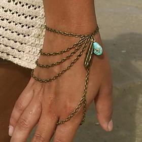 Women's Layered Charm Bracelet Ring Bracelet / Slave bracelet - Resin Unique Design, Tassel, European Bracelet Gold / Silver / Bronze For Christmas Gifts Party