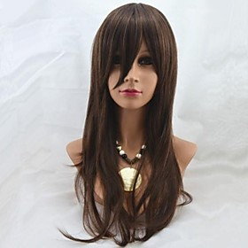 26Inch Capless Long High Quality Synthetic Straight Soft Hair Wig Mix 2/30 1583094