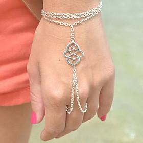 Women's Charm Bracelet Ring Bracelet / Slave bracelet - Unique Design, Bohemian, European Bracelet Silver / Bronze For Party Daily Casual