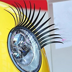 [BlackFridaySale]Eyelash Car Decorative Vehicle Headlight Sticker (Pair)