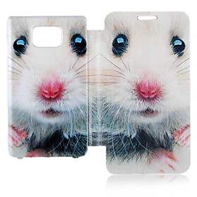 Cartoon Mouse Leather Full Body Case for Samsung Galaxy S2 I9100