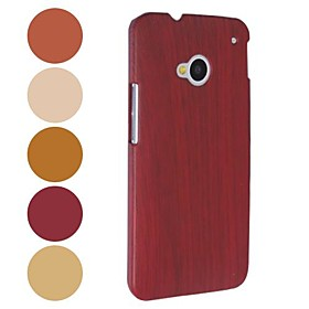 New Style Wood Grain Pattern TPU and Wooden Hard Case for HTC One (Assorted Colors) 1857767