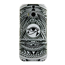 Triangle Eye Pattern Hard Case for HTC ONE M8 1872521