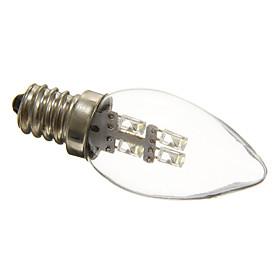0.5W 15-20 lm E12 LED Candle Lights C35 3 leds Decorative Natural White AC 220-240V
