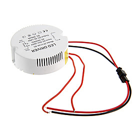 Image of 0.3A 31-36W DC 90-140V to AC 85-265V Circular External Constant Current Power Supply Driver for LED Ceiling Lamp