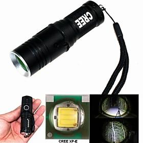 zhishunjia zsj209b-Q5 3 Modus 1xcree XP-E Q5 LED-Taschenlampe Zoom (400lm, 1x16340, schwarz) 1804459