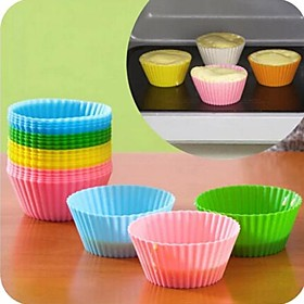 Bakeware tools Silica Gel Silicone Eco-friendly DIY Nonstick For Pie For Cupcake For Cake Moulds Mold 1731466