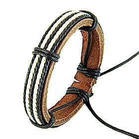 Fashion Black And White Men's Friendship Bracelet(1 Pc)