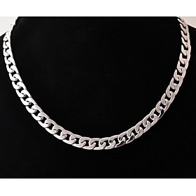 Men's Geometric Chain Necklace - Stainless Steel, Titanium Steel Unique Design, Fashion Silver Necklace Jewelry For Wedding, Party, Gift