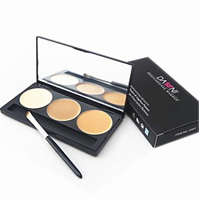 3 Color 5in1 Professional Concealer/Foundation/Blusher/Bronzer Makeup Cosmetic Palette with MirrorBrush Set 1746039