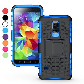 2 in 1 Dual-color Detachable PCTPU Hybrid Case with Kickstand for Samsung Galaxy S5 mini SM-G800(Assorted Colors)