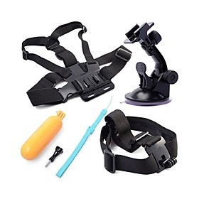5 in 1 Bundle Set Kit Suction Cup  Head Strap  Chest Strap  Yellow Hand Floating Grip   Screws For Gopro Hero 1735171