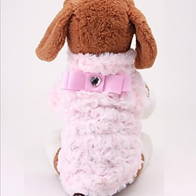 New Arrival Soft Velvet Full Rose Flower Style with Bowknot Vest for Pet Dogs(Assorted Size) 1874674