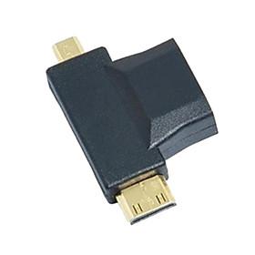 3-in-1  HDMI to Micro HDMI Mini HDMI Adapter Converter 1591391