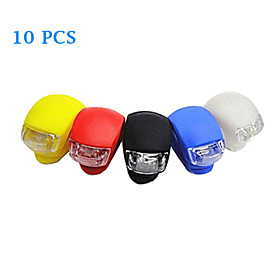 10PCS Silica Gel LED Cycling Frog Lamp(Assorted Color)