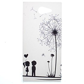 Dandelion and Lovers Transparent Pattern PC Hard Case for Sony Xperia M2 S50h