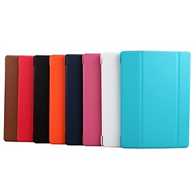 Tri-fold Smart Leather Cover w/ Stand for Samsung Galaxy Tab S 10.5 T800 T805 - Red