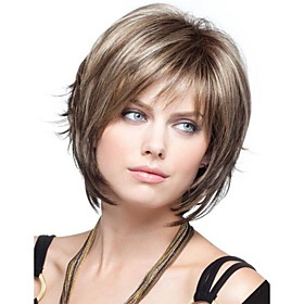 Women  lady  Short  Synthetic  Hair Wig 1975587