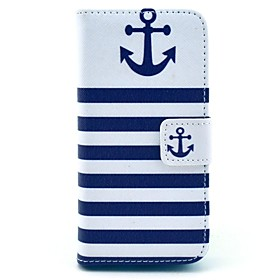 modello blu navy ancoraggio cuoio dell'unità di elaborazione caso corpo pieno coco fun con screen protector per iPhone 5 quater 1948429