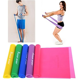 Green/Purple/Pink/Yellow/Blue TPR Stretch Band by Yoga Pilates Resistance Band PowerTraining 1931790