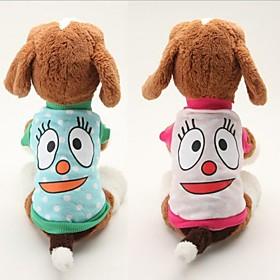 schönen großen Augen Baumwolle Muster-Haustier-T-Shirt für Hunde (multicolor verschiedenen Größen) 1979764