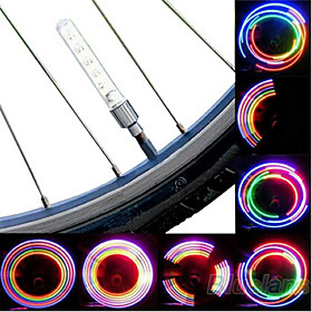 1 Pair Changing Colours Gas Aluminum AlloyPlastics Safety Lamp for Bicycle