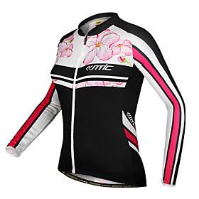 100% Poliéster manga comprida Floral Pattern Cycling Jacket de Šantić-Mulheres