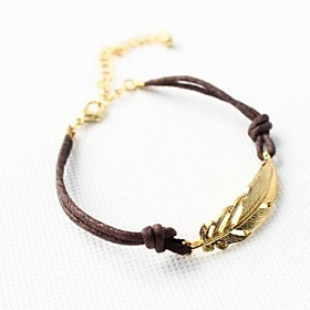 Women's Charm Bracelet - Leather Leaf Personalized, Unique Design, Basic Bracelet Brown / Gold For Christmas Gifts Daily Casual