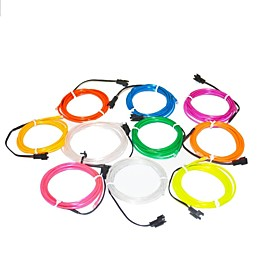 1.6 Meter Flexible Neon Light Glow Decorative 2.3mm Diameter EL Wire with 2AA Battery Pack 1975128