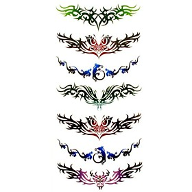 1pc Totem Style Butterfly Waterproof Tattoo Sample Mold Temporary Tattoos Sticker for Body Art(18.5cm8.5cm) 2126085