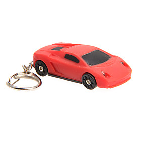 LED Lighting / Key Chain Car Cartoon / Creative Key Chain / LED Lighting / Sound Red ABS 2176497