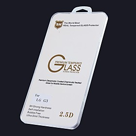High Quality Oleophobic Coating 2.5D 0.26mm 9H Tempered Glass Screen Protector for LG G3 2100350