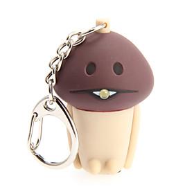 LED Lighting / Key Chain Mushroom Cartoon Key Chain / LED Lighting / Sound Khaki ABS / Plastic 2176501