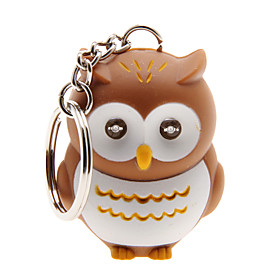 LED Lighting / Key Chain Owl Cartoon Key Chain / LED Lighting / Sound Khaki ABS 2176496
