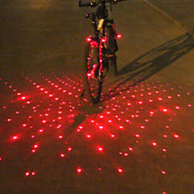 Bar End Light / Rear Bike Light / Safety Light Laser / LED Bike Light Cycling Alarm, LED Light, Multi-tool Battery Cycling / Bike / IPX-4