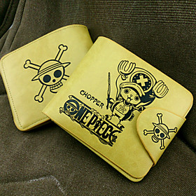 Bag / Wallets Inspired by One Piece Tony Tony Chopper Anime Cosplay Accessories Wallet Yellow PU Leather Male 1557114