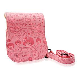 Mocmoc Cartoon Singer-shoulder PU Leather Camera Bag for Mini25