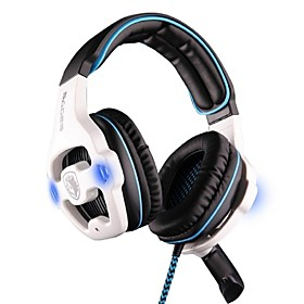 SADES SA-903 Headphone USB Over Ear Multifunctional Stereo with Microphone for Computer 2105539
