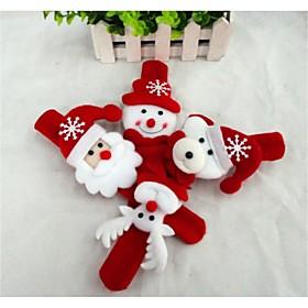 Christmas Gift Christmas Toy Slap Armband Snowman Cute Santa Claus Textile Kid's Boys' Girls' Toy Gift 1 pcs