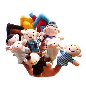 Sheep Finger Puppets Puppets Cute Lovely Novelty Cartoon Textile Plush Girls' Gift 10pcs 2101253