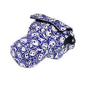 Siyoone A18-S Blue Skull Designs Camera Bag For Canon700D 600D 650D /Nikon D7000D99