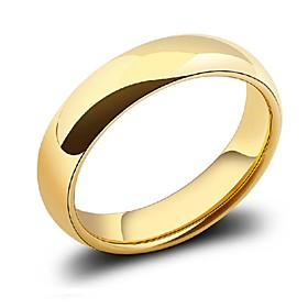 Lord of the Rings Smooth No Pattern Men's Rings(Hualuo Jewelry)