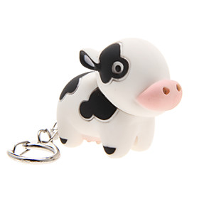 LED Lighting / Key Chain Cow Cartoon Key Chain / LED Lighting / Sound White ABS 2176499